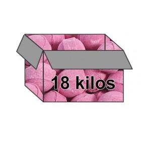 Mini-billes  framboise - Carton 18 kilos
