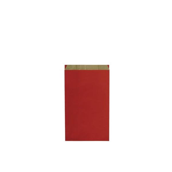 Pochette cadeau kraft unies rouge - Lot 250
