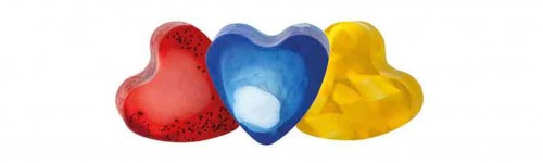 Heart shaped soaps